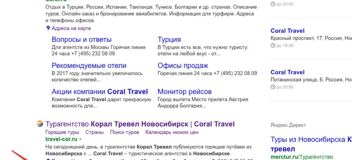 Чат в выдаче Яндекса
